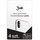 Folie Protectie Camera spate 3MK pentru Samsung Galaxy S10 Lite G770, Plastic, Set 4 buc, Blister