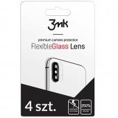 Folie Protectie Camera spate 3MK pentru Apple iPhone 11 Pro Max, Plastic, Set 4 buc, Blister