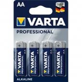 Set 4 x baterie R6 / AA Varta Professional, Blister