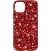 Husa TPU OEM Glitter Powder pentru Apple iPhone 11 Pro, Rosie, Bulk