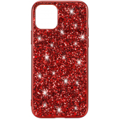Husa TPU OEM Glitter Powder pentru Apple iPhone 11, Rosie, Bulk