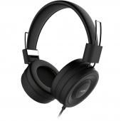 Handsfree Casti Remax 4D RM-805, Over-ear, 3.5 mm, Negru, Blister