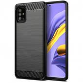 Husa TPU Forcell Carbon pentru Samsung Galaxy A51 A515, Neagra