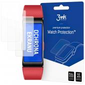 Folie Protectie Ecran 3MK pentru Huawei Band 4 Pro, Sticla Flexibila, Set 3 buc, Blister
