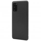 Husa Fibra Carbon Nevox pentru Samsung Galaxy S20 G980 / Samsung Galaxy S20 5G G981, Magnet Series, Neagra, Blister