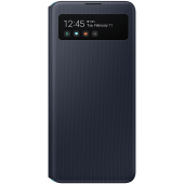 Husa Poliuretan Samsung Galaxy A51 5G A516, S View Wallet, Neagra, Blister EF-EA516PBEGEU