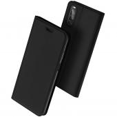 Husa Piele DUX DUCIS SKIN PRO pentru Sony Xperia 10 II, Neagra, Blister