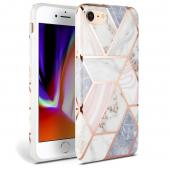 Husa TPU Tech-Protect Marble pentru Apple iPhone 7 / Apple iPhone 8 / Apple iPhone SE (2020), Roz, Blister