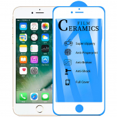 Folie Protectie Ecran OEM pentru Apple iPhone 7 / Apple iPhone 8 / Apple iPhone SE (2020), Plastic, Full Cover, Full Glue, 2.5D, Alba, Blister
