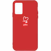 Husa TPU OEM Frosted Love Heart pentru Samsung Galaxy S20 Ultra G988 / Samsung Galaxy S20 Ultra 5G G988, Rosie, Bulk