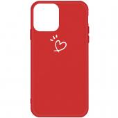 Husa TPU OEM Frosted Three Dots Love-heart pentru Apple iPhone 11 Pro, Rosie, Bulk