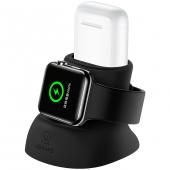Suport Birou Usams  ZJ051 pentru Apple Watch / Apple AirPods, Gri, Blister