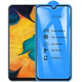 Folie Protectie Ecran OEM pentru Samsung Galaxy A20e, Sticla securizata, Full Cover, Full Glue, Neagra 9H, Blister