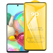 Folie Protectie Ecran OEM pentru Samsung Galaxy A51 A515, Sticla securizata, Full Face, Full Glue, 9D, Neagra