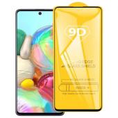 Folie Protectie Ecran OEM pentru Samsung Galaxy A71 A715 / Samsung Galaxy Note 10 Lite N770, Sticla securizata, Full Face, Full Glue, 9D, Neagra, Blister