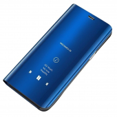 Husa Plastic OEM Clear View pentru Huawei Y6 (2019), Albastra, Blister