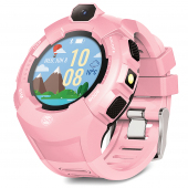 Ceas Smartwatch Forever Kids Care Me KW-400, Localizare GPS / LBS / Wi-Fi, Roz, Blister