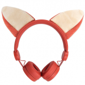 Casti fara microfon Forever Foxy AMH-100, Rosu, Blister