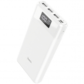 Baterie Externa Powerbank HOCO B35E Entourage, 30000 mA, 3 x USB, Alba, Blister
