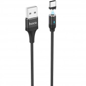 Cablu Incarcare USB la USB Type-C HOCO U76 Magnetic, 2.4A, 1.2 m, Negru