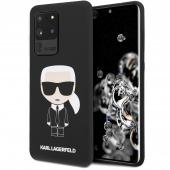 Husa TPU Karl Lagerfeld Ikonik Full Body pentru Samsung Galaxy S20 Ultra G988 / Samsung Galaxy S20 Ultra 5G G988, Neagra KLHCS69SLFKBK