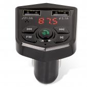 Modulator FM Bluetooth Maxlife MXFT-02, Mp3 Player, Buton Apel, 1 x USB (Incarcare), Negru MXFT-02