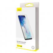 Folie Protectie Ecran Baseus pentru Samsung Galaxy S20 Ultra G988 / Samsung Galaxy S20 Ultra 5G G988, Sticla securizata, Full Face, Set 2buc, 3D, 0.25mm, UV SGSAS20U-UV02