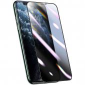 Folie Protectie Ecran Baseus pentru Apple iPhone 11 Pro Max / Apple iPhone XS Max, Plastic, Full Face, Privacy, 3D, 2.5mm, Neagra, Blister SGAPIPH65S-HC01