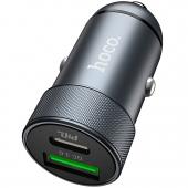 Incarcator Auto USB HOCO Z32B Speed Up PD+QC3.0, 2 X USB, Gri, Blister