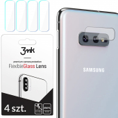 Folie Protectie Camera spate 3MK pentru Samsung Galaxy S10e G970, Plastic, Set 4 buc, Blister