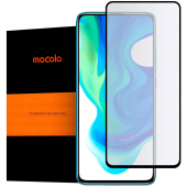 Folie Protectie Ecran Mocolo pentru Xiaomi Poco F2 Pro, Sticla securizata, Full Face, Full Glue, Neagra, Blister