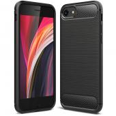 Husa TPU Forcell Carbon pentru Apple iPhone SE (2020), Neagra, Bulk