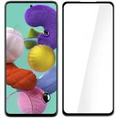Folie Protectie Ecran OEM pentru Samsung Galaxy A71 A715, Sticla securizata, Full Face, Full Glue, 9D, 9H, Neagra, Blister