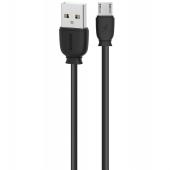 Cablu Date si Incarcare USB la MicroUSB Remax Suji RC-134m, 1 m, Negru, Blister
