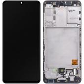 Display - Touchscreen Samsung Galaxy A41, Cu Rama, Negru GH82-22860A