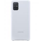 Husa TPU Samsung Galaxy A71 A715, Argintie, Blister EF-PA715TSEGEU