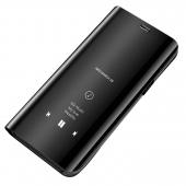 Husa Plastic OEM Clear View pentru Huawei P40 lite, Neagra, Blister