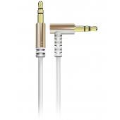 Cablu Audio 3.5 mm la 3.5 mm Dudao Angled AUX L11, TRS - TRS, Forma L, 1 m, Alb
