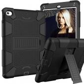 Husa Tableta TPU OEM Antisoc pentru Apple iPad 10.2 (2019) / Apple iPad 10.2 (2020), Cu Holder si suport creion, Neagra, Bulk