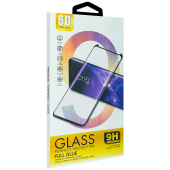 Folie Protectie Ecran OEM pentru Huawei P40 lite E, Sticla securizata, Full Face, Full Glue, 6D, Neagra, Blister