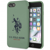Husa TPU U.S. Polo Big Horse pentru Apple iPhone 8 / Apple iPhone SE (2020), Verde, Blister USHCI8SLHRGN