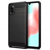 Husa TPU Forcell Carbon pentru Samsung Galaxy A41, Neagra