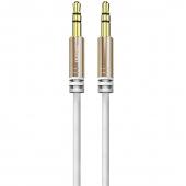 Cablu Audio 3.5 mm la 3.5 mm Dudao L12, TRS - TRS, 1.5 m, Alb