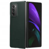 Husa Piele Samsung Galaxy Fold 2 F916, Leather Cover, Verde EF-VF916LGEGEU