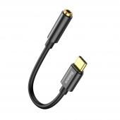 Adaptor Audio USB Type-C la 3.5 mm Baseus L54, DAC 24bit, 48KHz, 0.09 m, Negru, Blister CATL54-01