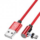 Cablu Incarcare USB la Lightning Usams Magnetic U54, 1 m, Rosu, Blister SJ444USB02