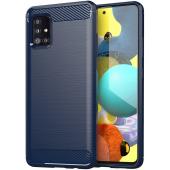 Husa TPU OEM Carbon pentru Samsung Galaxy A71 5G A716, Bleumarin, Bulk