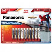 Baterie Panasonic Pro POWER, AAA / LR3 / 1.5V, Set 10 bucati (6 + 4 gratis), Alcalina