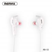 Handsfree Casti Bluetooth Remax SPORTY RB-S5, Mutipoint, Alb