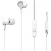Handsfree Casti EarBuds XO Design EP20, Cu microfon, 3.5 mm, Alb